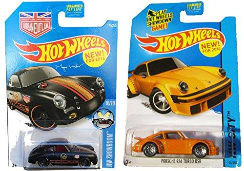 Hot Wheels 2-car Porsche Set Orange 934 Turbo RSR & Magnus Walker's 356A Outlaw