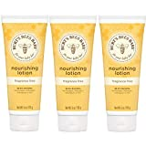 Burt's Bees Baby Nourishing Lotion, Fragrance Free Baby Lotion - 6 Ounce Tube (Pack of 3)