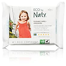 Naty by Nature Babycare Fragrance-Free Eco-Toddler Flushable Wipes, 504 Count