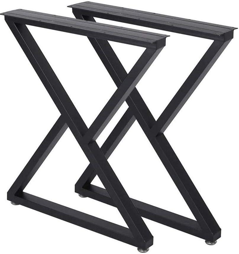 "Metal Table Legs 28 Inch Desk Legs Heavy Duty Industrial Dining Table Legs Z Shape Coffee Table Legs DIY Iron Bench Legs,Furniture Legs(H28""xW17.7"",Set of 2)"