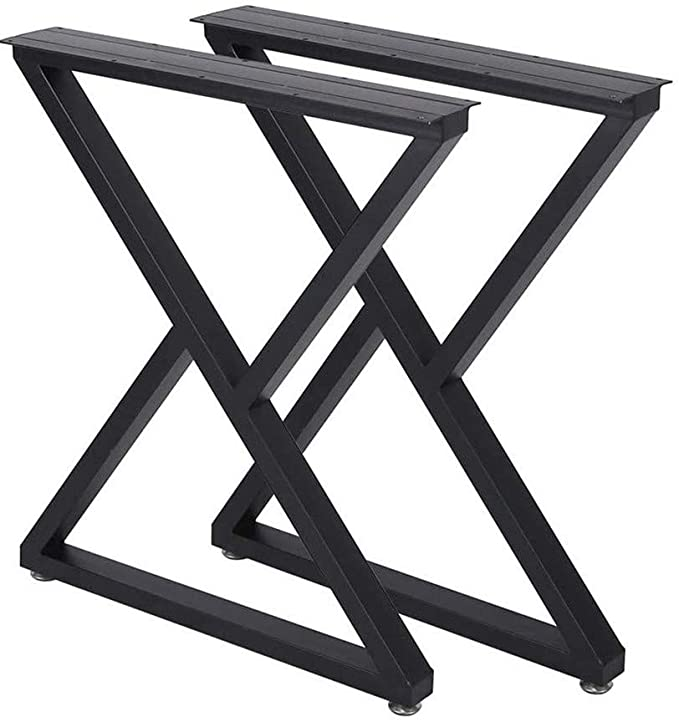 Metal Table Legs Desk Leg Heavy Duty Industrial Dining Table Legs Z Shape Coffee Table Legs Diy Iron Bench Legs Furniture Legs H28 Xw18 Set Of 2