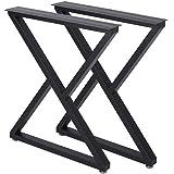 Metal Table Legs Desk Leg Heavy Duty Industrial Dining Table Legs Z Shape Coffee Table Legs DIY Iron Bench Legs,Furniture Leg