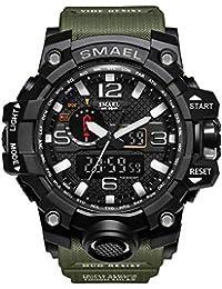 men's sports watch outdoor waterproof watch double...