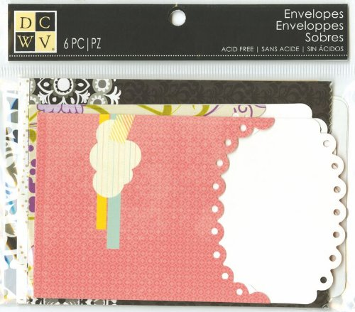 DCWV Assorted Printed Envelopes