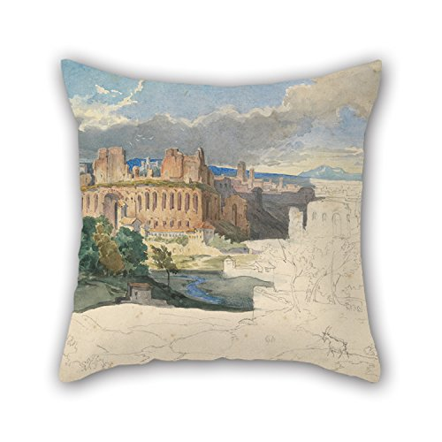 Imperial Palace Duvet - Artistdecor Oil Painting Carl Rottmann - The Ruins Of The Imperial Palaces In Rome Pillow Covers ,best For Boys,girls,her,coffee House,divan,gril Friend 18 X 18 Inches / 45 By 45 Cm(double Sides)