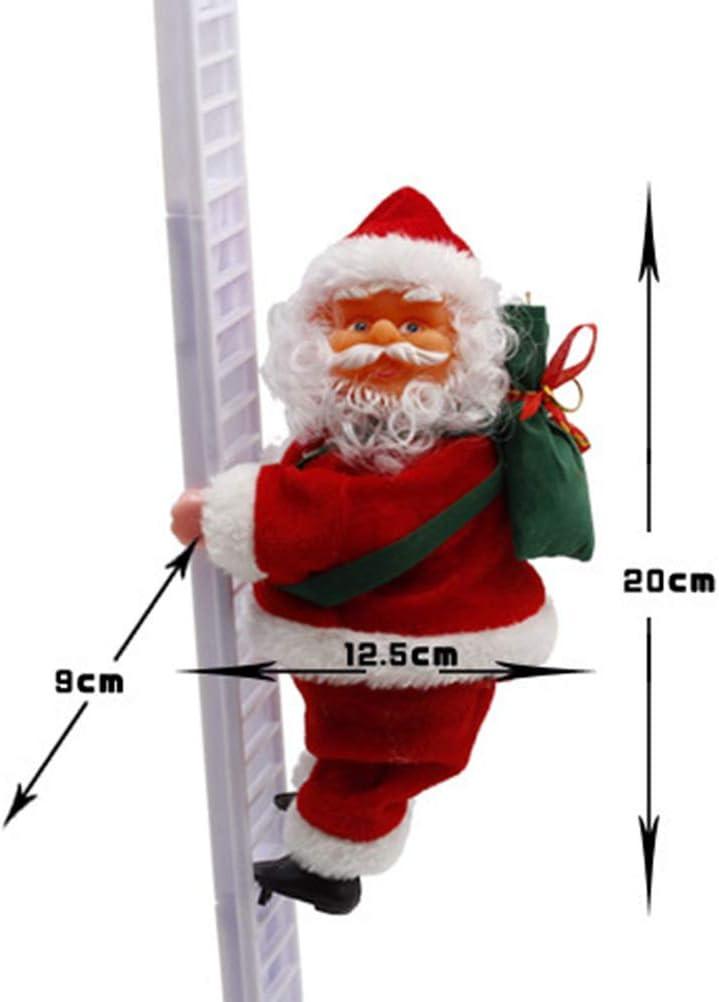 BESTOYARD Santa Claus Escalera de Escalada Eléctrica Papá Noel Muñeco de Navidad Ornamento Colgante Exterior Puerta Interior Decoración de Pared: Amazon.es: Hogar