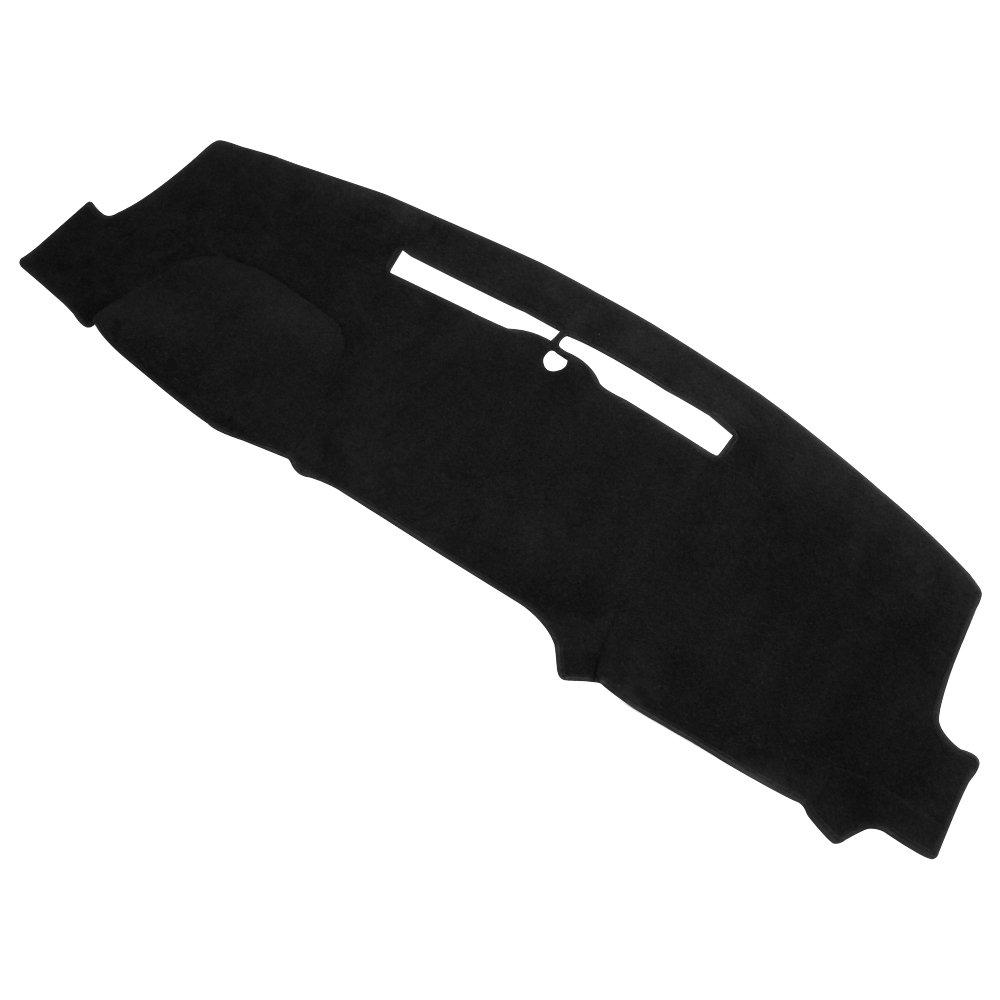 Sierra 14-17, Black JKNSS55 JIAKANUO Auto Car Dashboard Dash Board Cover Mat Fit for GMC Sierra 2014-2017