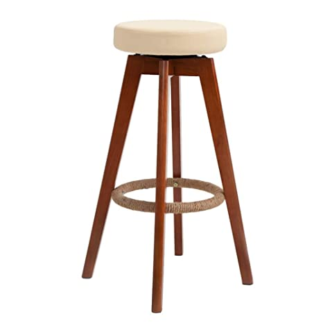 Marvelous Amazon Com Barstools Chairs Stools Round Solid Wood Bar Machost Co Dining Chair Design Ideas Machostcouk