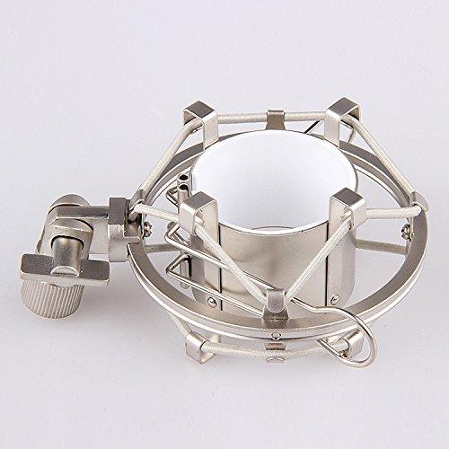 (Boseen Anti Vibration Suspension Metal Microphone Shock Mount Holder Clip(Champagne))