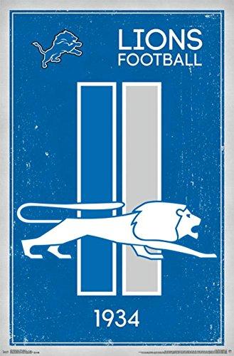 Detroit Lions - Retro Logo 14 Poster
