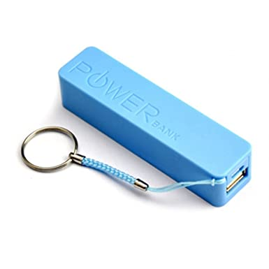 Blue 2600mah Usb Power Bank Portable External Battery Charger For