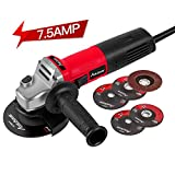 Angle Grinder 7.5-Amp 4-1/2inch with 2 Grinding Wheels, 2 Cutting Wheels, Flap Disc and Auxiliary Handle, Avid Power...