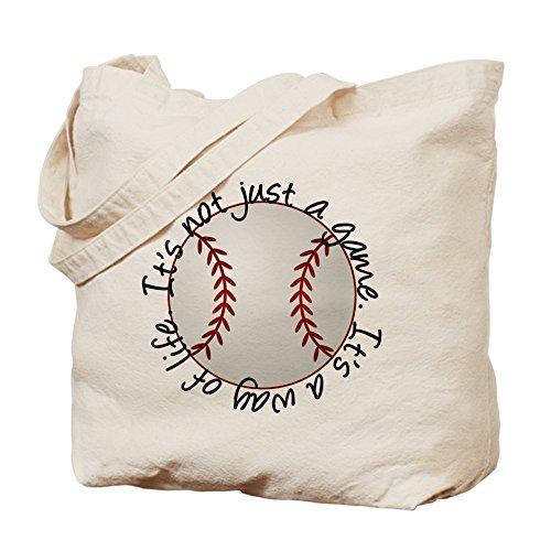 CafePress de béisbol profesional para la vida–Gamuza de bolsa de lona bolsa, bolsa de la compra