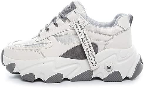 IDE Play Womens Trail Entrenadores, Zapatillas, Zapatos para Caminar y Transpirable, Ligera de Verano de los Zapatos Ocasionales de Deportes de Gimnasia, Zapatillas de Deporte de Moda,Beige,35: Amazon.es: Hogar