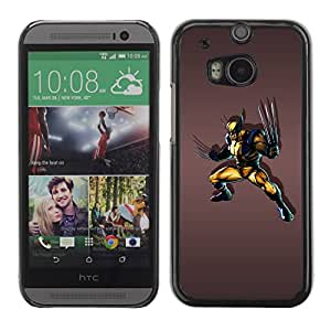 Paccase / SLIM PC / Aliminium Casa Carcasa Funda Case Cover para - Angry Superhero - HTC One M8