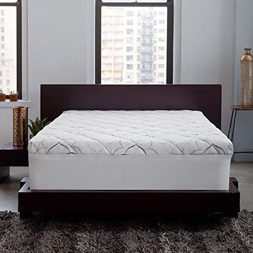 Sleep Innovations Instant Pillow Top Memory Foam and Fiber Mattress Topper, Made in The USA with a 10-Year Warranty - King ()