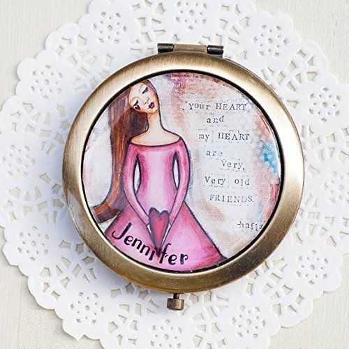 8e2f3278ba0 Image Unavailable. Image not available for. Color  Personalized Compact  Mirror ...