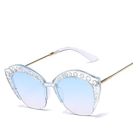 Aoligei Europa und die Vereinigten Staaten Sonnenbrillen trend Eye Brille Diamant Mosaik Rahmen Dame Anti-UV-Sonnenbrille Io5AcSPOSo