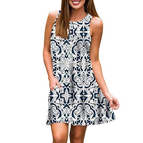 (Womens Beach Floral Dress,Summer Vintage Boho Maxi Evening Dress Changeshopping)