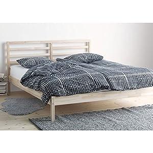 ikea tarva full size bed frame solid pine wood brown kitchen dining. Black Bedroom Furniture Sets. Home Design Ideas