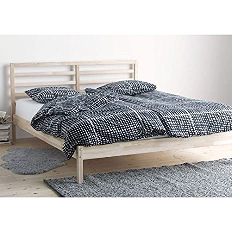 ikea tarva full size bed frame solid pine wood brown - Wood Full Size Bed Frame