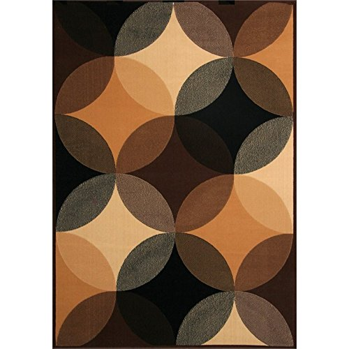Furniture of America Shenelle 5'3'' x 7'6'' Rug in Black and Brown