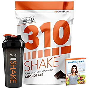 Chocolate Meal Replacement   310 Shake Protein Powder is Gluten and Dairy free, Soy Protein and Sugar Free   Includes 310 Shaker and Free Recipe eBook   28 Servings