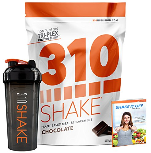 Chocolate Meal Replacement | 310 Shake Protein Powder is Gluten and Dairy free, Soy Protein and Sugar Free | Includes 310 Shaker and Free Recipe eBook (DIGITAL) | 28 Servings