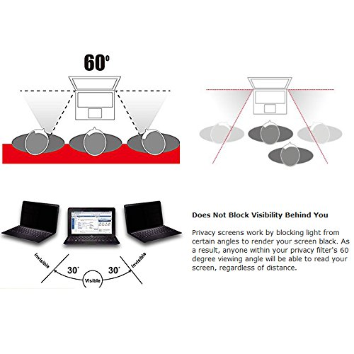 Homy Laptop Privacy Filter Compatible with 14.0 Inch Widescreen (12.2 x 6.9 in) - Anti-spy Screen Protector for Widescreen Laptops Matte Surface Storage Folder & Anti Spy Web Camera Cover. by Homy international (Image #3)