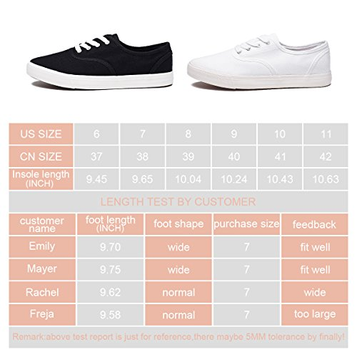ZGR Women's Canvas Shoes Fashion Low Cut Loafer Sneakers (us10, White)