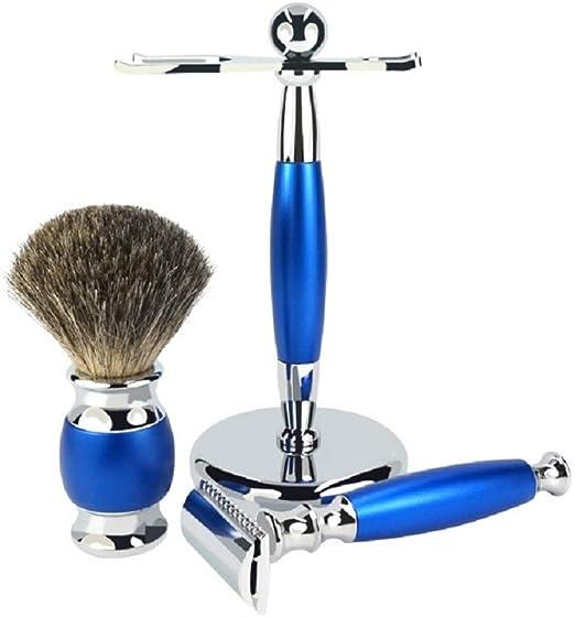 Set de afeitado clásico para hombres - Afeitadora De Seguridad De ...