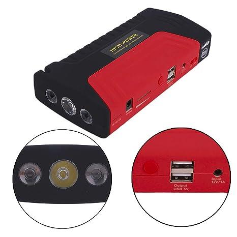 Coche De Arranque Portátil 400 9000Mah Emergencia Batería Booster Con 2 Salida De Carga USB Adecuado