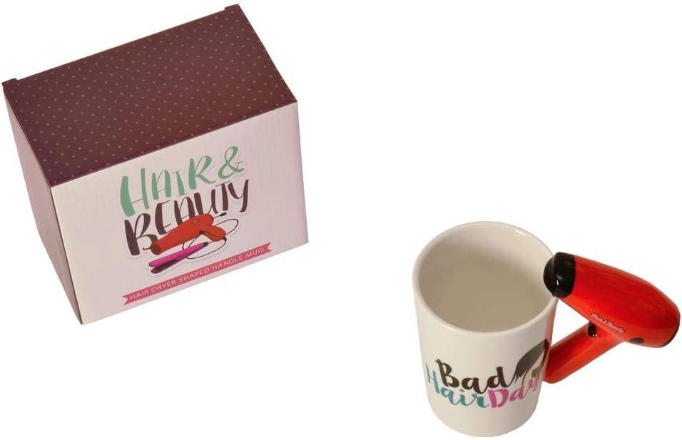 Bad Hair Day 3D Sèche-cheveux poignée tasse de café tasse neuf avec boîte cadeau