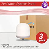 Zen Water System Replacement Ceramic Dome Water Filter 0.5 to 1 micron 3 pack