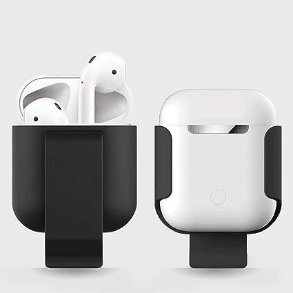 Roful Estuche de Clip para Apple Airpods Proof Protector Cubierta de la Bolsa Anti Lost True