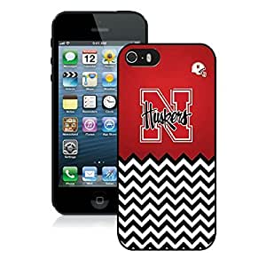 iPhone 5 5S Case ,Unique And Fashionable Designed Case With Nebraska Huskers Black For iPhone 5 5S Phone Case