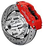 """NEW WILWOOD FULL FRONT DISC BRAKE KIT, 12"""" DRILLED ROTORS, RED DYNAPRO 6 PISTON CALIPERS, PADS, 1979-1987 GM G-BODY, CHEVY EL CAMINO, MONTE CARLO, S10, PONTIAC GRAND PRIX, LEMANS"""