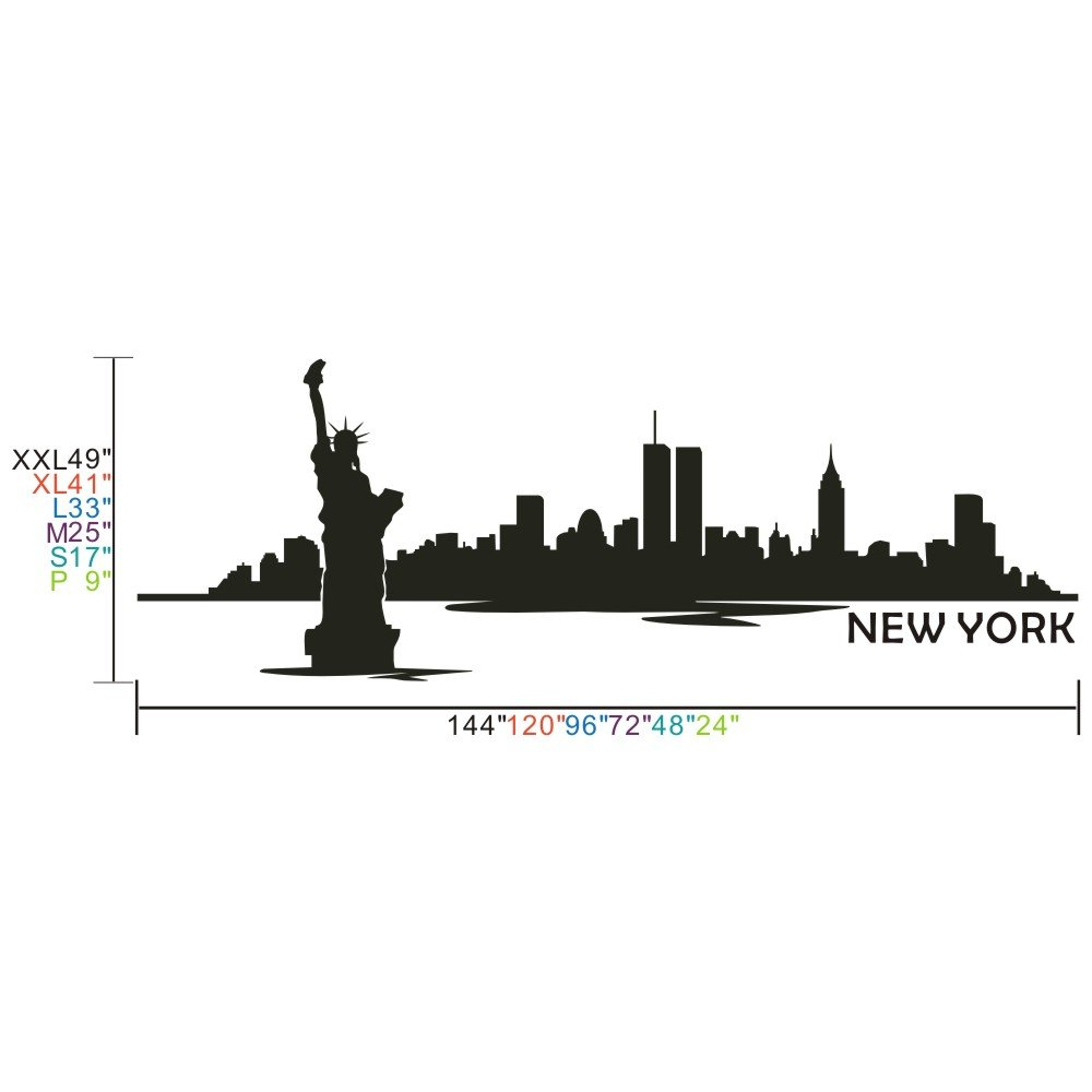 Vinyl New York Wall Decal New York City Wall Decor New York Skyline