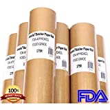 """Butcher Paper Roll 18"""" X 175' (2100'') Food Grade FDA Approved, Unwaxed, Uncoated and Unbleached, Perfect for Slow Smoke Beef/Pork w/Indirect Heat, Gift Wrapping, Smoker, Microwave & Freezer Safe"""