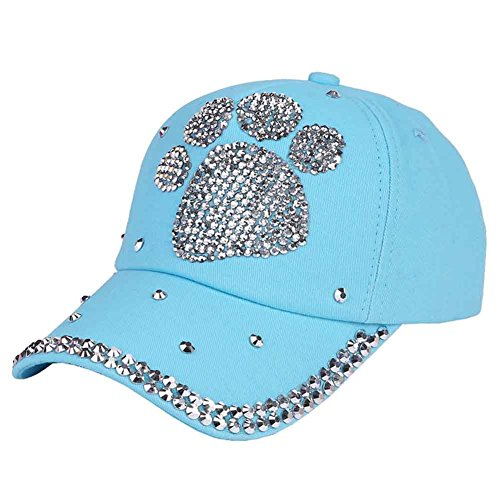 (Funbase Children Outdoor Sports Star Shaped Bling Baseball Hiking Cap)