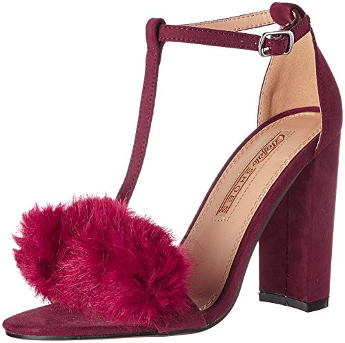 01 Red Buffalo Bar 315960a A200 Burgundy T Sue Sandals Bhwmd IMI Women's aaSrwUqP