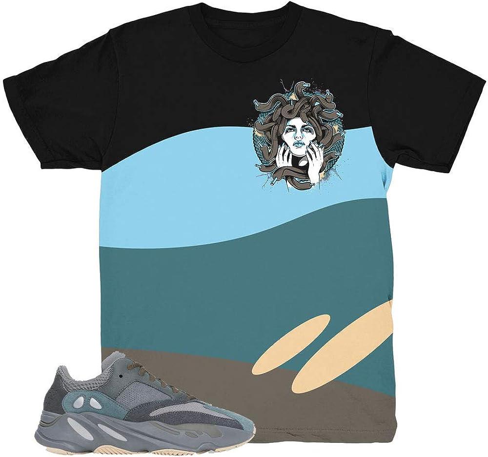 Yeezy 700 Teal Blue Wave Medusa Shirt