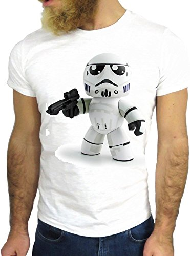 T-SHIRT JODE GGG24 HZ0590 ROBOT COOL VINTAGE ROCK FUNNY FASHION CARTOON NICE AMERICA BIANCA - WHITE M