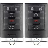 KeylessOption Keyless Entry Remote Start Smart Car Key Fob Clicker Uncut Insert Blade for Cadillac ATS, XTS NBG009768T (Pack of 2)