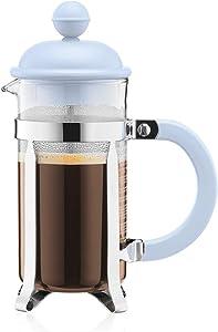 Bodum Caffettiera French Press Coffee and Tea Maker, 12 Oz, Light Blue