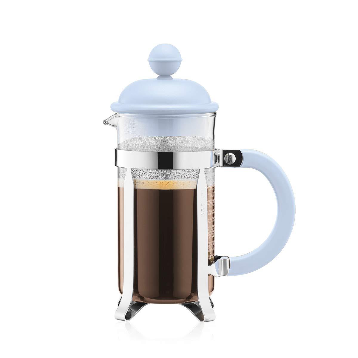 Bodum 1913-338B-Y19 Caffettiera French Press Coffee and Tea Maker, 12 Oz, Light Blue