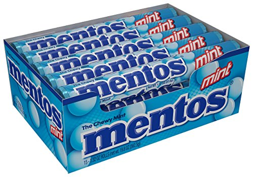 Mentos Chewy Mint Candy Roll, Mint, Easter Basket Candy, 1.32 ounce/14 Pieces (Pack of (Mentos Mint Candy)