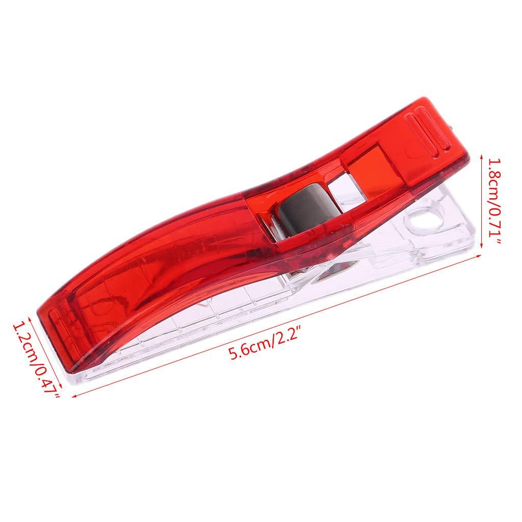 Rojo Lamdoo 10Pcs Pinzas de pl/ástico de Gran tama/ño Abrazaderas para Coser Acolchar Encuadernaci/ón Ropa Tejer Artesan/ía Herramienta de Costura