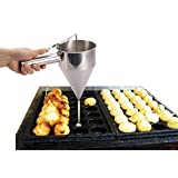 Stainless Steel Funnel Octopus Balls Tool Kitchen With Rack Sauce Funnel Kitchen kitchenette Necessity