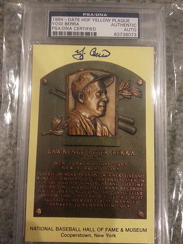 Yogi Berra Hand Signed - 6